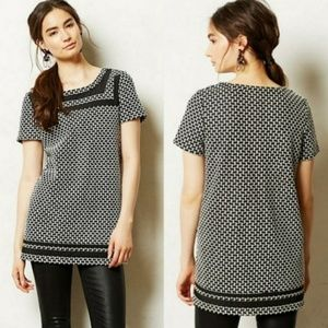 Anthropologie Postmark | Black and White Tunic Top